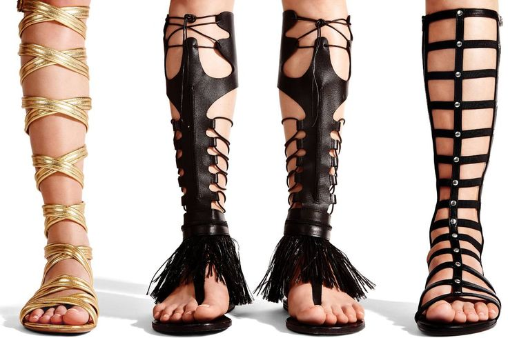 Knee Length Gladiator Sandals   this season s sandals are really roman from zara s casual but golden ...