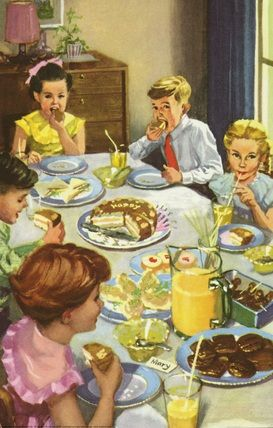 Eating cake - The Party - LadyBird Books 1960