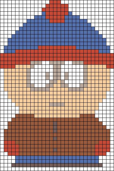Stan South Park perler bead pattern