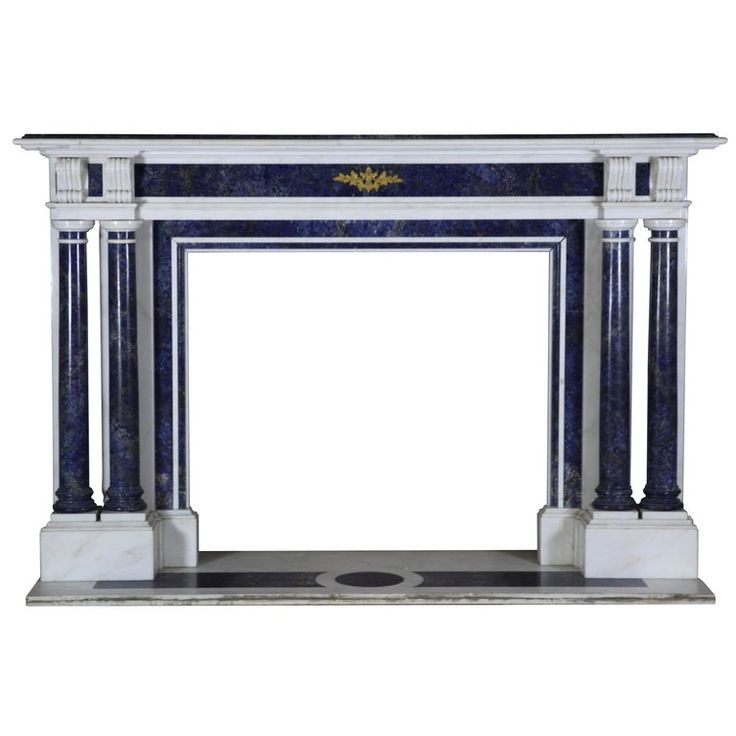 1stdibs Fireplace / Mantel – Blue Antique Surround French Other Statuary Marble
