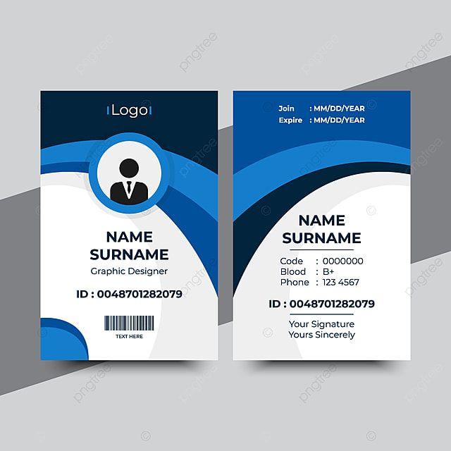 Id Card Template In 2021 Id Card Template Business Card Black Employee Id Card