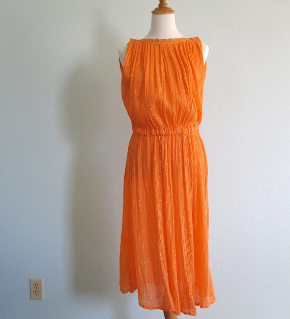 Vintage 80s Dress  Chic Festival Dress in by BadChollaVintage, $68.00