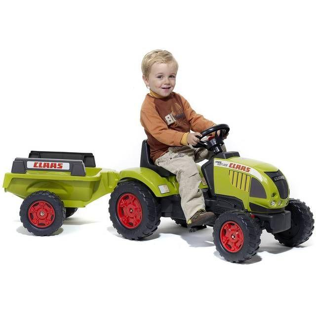 FALK-FALQUET Tracteur Claas Ares 657 ATZ à pédales + Remorque prix promo Jouets Mistergooddeal 109.20 € TTC