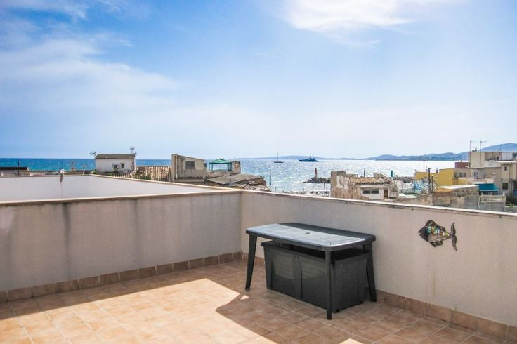 Portixol/ Es Molinar, Palma de Mallorca: Top floor apartment with fabulous sea views from roof terracce in Molinar