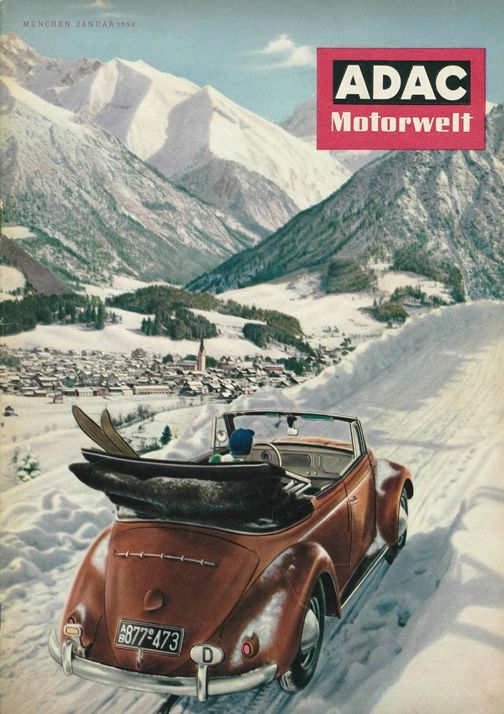 Cover of ADAC January 1954 #Allgaeu #Oberstdorf