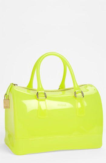 Citrus, candy-colored Furla satchel.