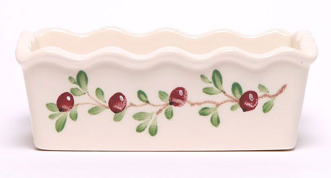 Large Cranberry Loaf Pan: Made in the USA and Lead-Free | Emerson Creek Pottery