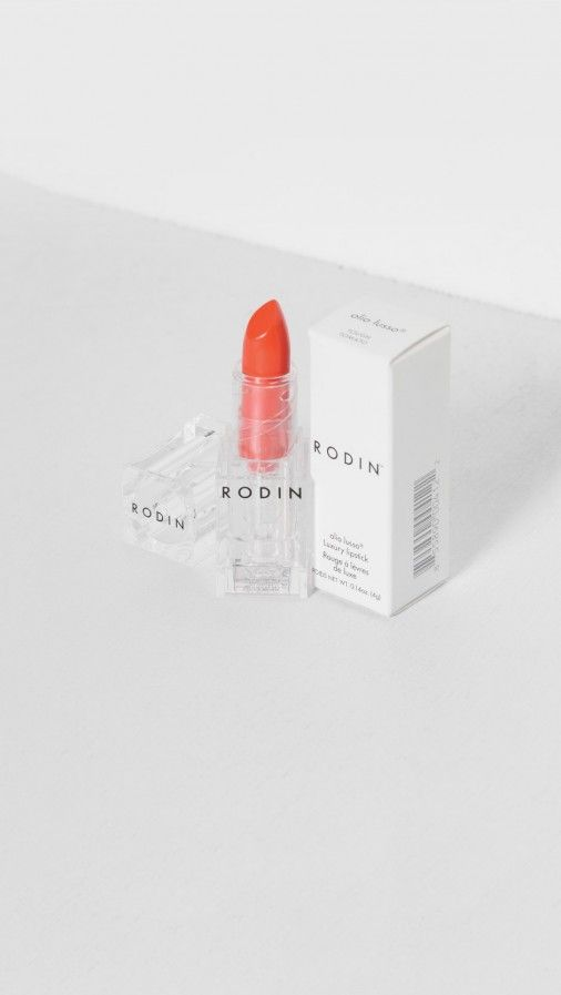 Rodin Olio Lusso Lipstick in Tough Tomato | clear and minimal perplex packaging