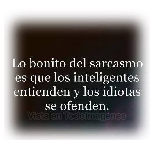 El sarcasmo*...