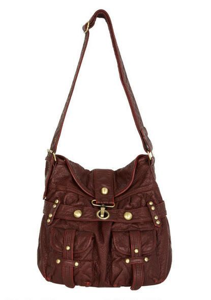 Saddle-Up Bag in Burgundy! So cute! I love over the shoulder bags on campus! #AlloyShop #AlloyWINYourPin