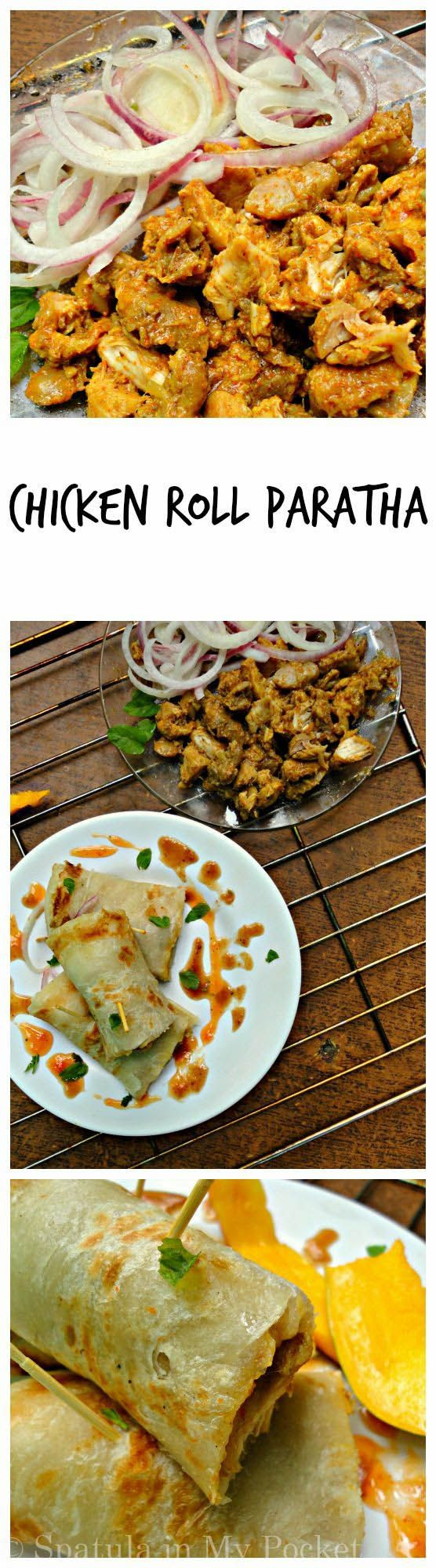 Bihari Chicken Roll Parathas