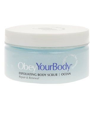 Exfoliate and invigorate your skin with this 300g?Body Salt Scrub by ObeyYourBody?. The formula is enriched with Dead Sea salts and an abundance of concentrated minerals. It is designed to stimulate blood circulation and promotes the removal of toxins. With a refreshing ocean scent, your skin will be left feeling silky smooth, and with a gorgeous glow.?