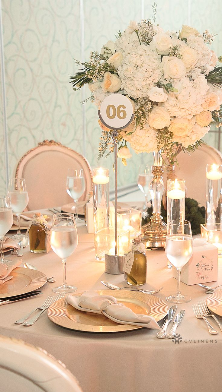 Lamour Satin 120 Round Tablecloth Champagne Champagne Wedding
