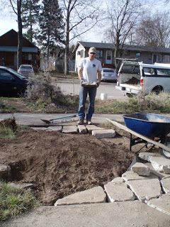 How to build a path from broken concrete pieces