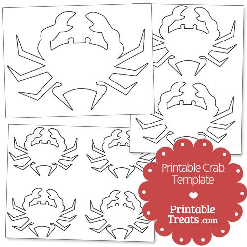 Printable Crab Template from PrintableTreats Shapes