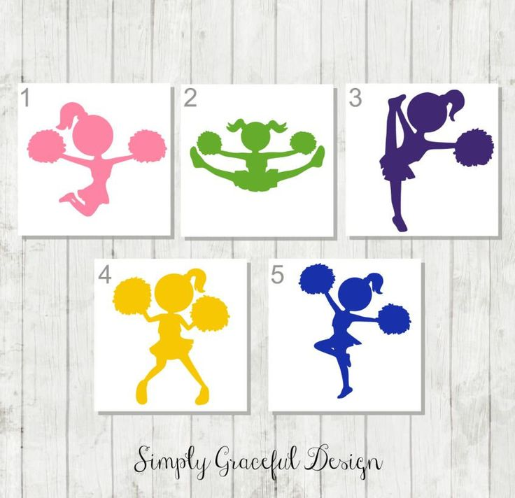 Cheerleader Decal - Cheer Silhouette Decal - Cute Cheer Decal - Gift for Cheer Team - Cheer Car Decal - Cheer Tumbler Decal - Cheer Mom Gift by SimplyGracefulDesign on Etsy