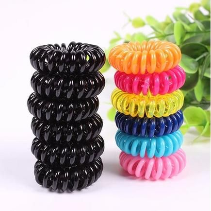 5pcs/lot Fashion Cute Candy Color Hair Jewelry Headbands Telephone Line Hair Rope For Women Hair Band