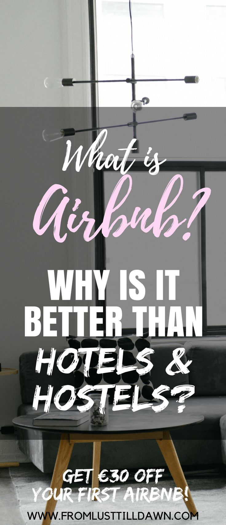 I've stayed at over 30 Airbnbs since 2011. What is Airbnb? I'll tell you what Airbnb is, why you'll like staying at an Airbnb over a hotel, how to choose a good Airbnb, and when you should NOT choose an Airbnb vs. a hotel.   SAVE FOR LATER   #airbnb #hotel #travel #accommodation