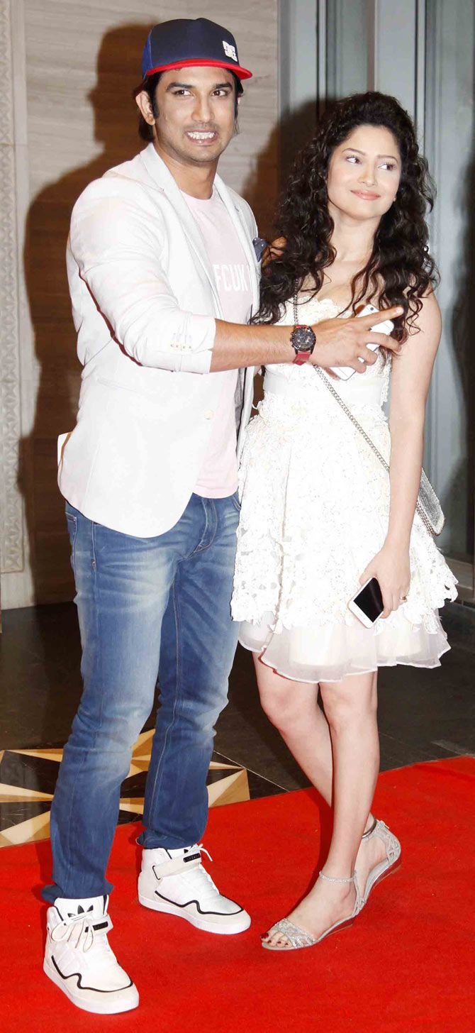 Sushant Singh Rajput and Ankita Lokhande at 'pk' success bash. #Bollywood #Fashion #Style #Beauty