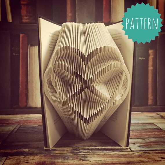 Folded Book Art Infinity heart Pattern & tutorial by BookOrigami