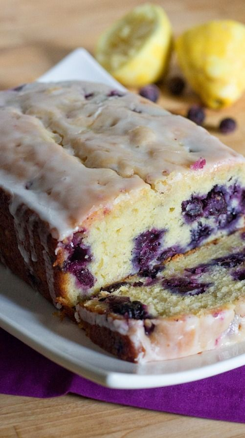 Lemon Blueberry Bread. Looks good! I would skip the salt like I always do when I see it listed in desserts recipes.