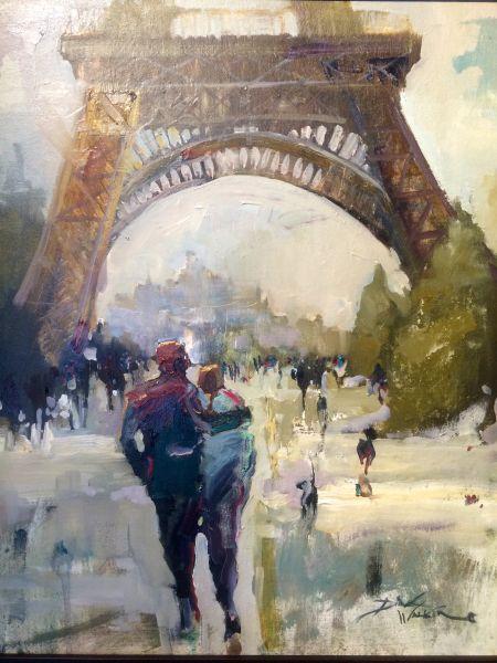 Valantine Day Snow in Paris by Dirk Walker | #dkGallery | Marietta, GA | SOLD