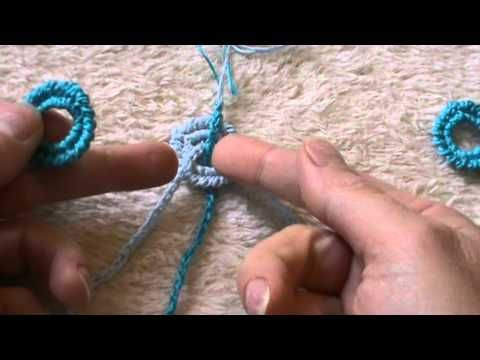 ▶PUNTO GAMBERO collana e braccialetto a cerchietti - YouTube