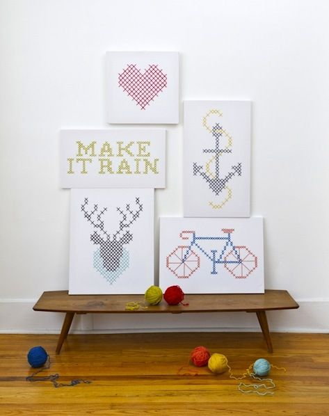 DIY Giant Cross-Stitch