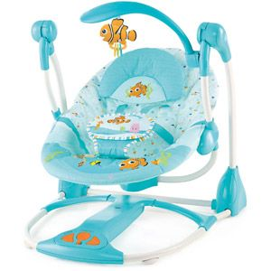 Disney Baby Finding Nemo Portable Swing, Fins & Friends I LOVE THIS!!!!