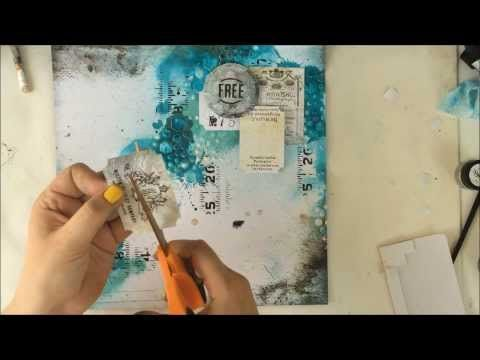 ▶ Start To Finish Mixed Media Scrapbooking Layout Tutorial - YouTube