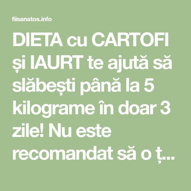 DIETA cu CARTOFI și IAURT te ajută să slăbești până la 5 kilograme în doar 3 zile! Nu este recomandat să o țineți mai mult de 3 zile! – Fii Sanatos