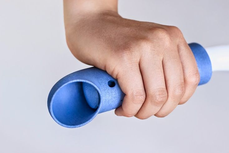 "The inspiration for the ""Cooling Grip"" project was not only the need for cooling of the cyclist's hands while driving, but also the phenomenon of natural ventilation used, for example, in architecture. The grip was designed in such a way as to use only natural wind energy, which gives the effect of aero-massage. The form of the device was achieved thanks to the 3D printing technology and flexible TPU 92A- 1 material, thanks to which the grip can maintain a firm contact with a handlebar."