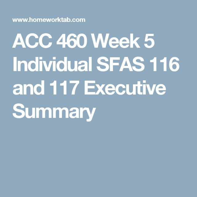 acc460 week 5 exec summary View essay - executive summary from bus/ 475 at university of phoenix  executive summary the proposed new service for liberty tax service will be the   bus475 week 5 final business model and strategic plan university of  phoenix.