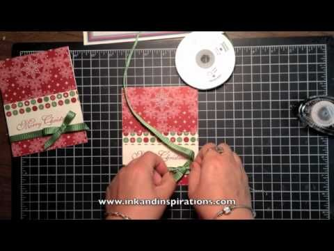 Stampin' Up! Video Tutorial Greetings of the Season Christmas Card  Tying Bows on Cards