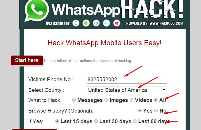 Hack Whatsapp Messages Online Free