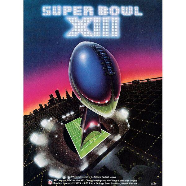 "Fanatics Authentic 1979 Steelers vs. Cowboys 36"" x 48"" Canvas Super Bowl XIII Program - $199.99"