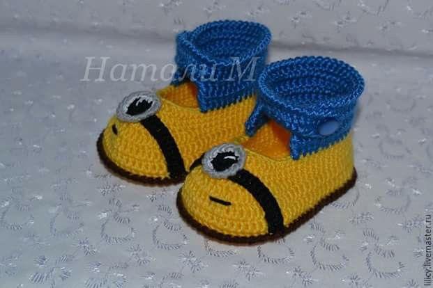 Minion Chinelos Padrão -  /   Minion Slippers Pattern -