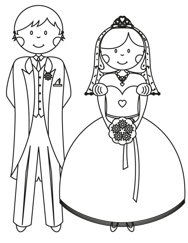 17 wedding coloring pages for kids who love to dream about their big day bride and groom