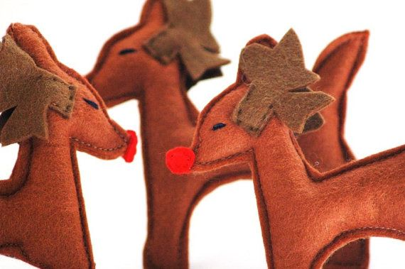 Rudolph  Reindeer Christmas Decoration or by TheNataleStore, $8.70