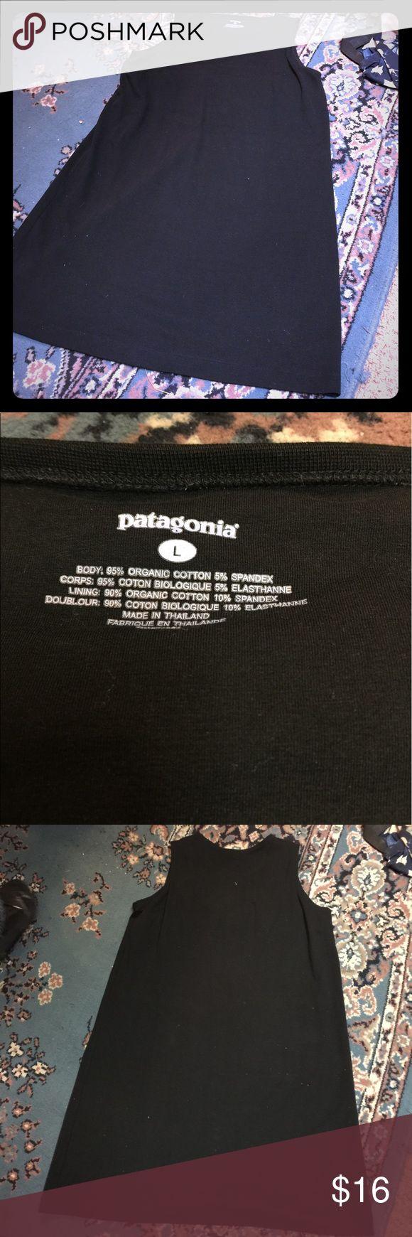 Black Patagonia L Shift Dress Like new in excellent condition Large Patagonia dress Patagonia Dresses Midi