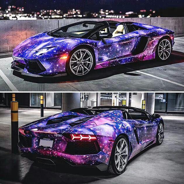 purple cars galaxies nice cars automobile dream cars vehicles wheels lamborghini aventador roadster motorcycles