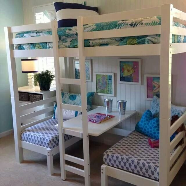 Double Bed In Top Two Singles In Bottom That Also Double As Benches