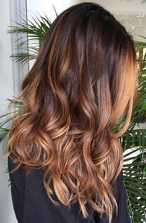 Copper caramel hair, autumn tones