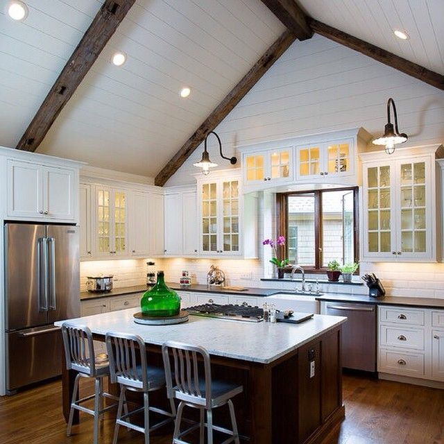 L Shaped Kitchen Houzz: 13 Best Vaulted Ceilings Images On Pinterest