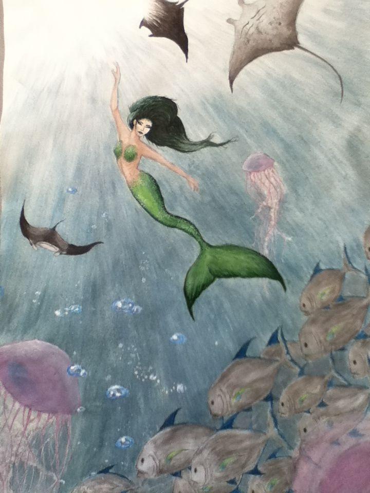 GCSE Art Exam final piece mermaids
