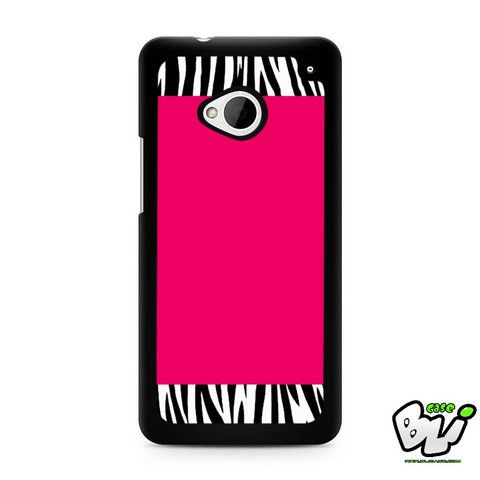 Zebra Pattern On Hot Pink HTC G21,HTC ONE X,HTC ONE S,HTC M7,M8,M8 Mini,M9,M9 Plus,HTC Desire Case