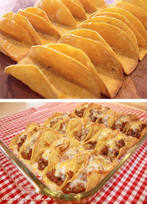 I'm making these for dinner tonight! baked tacos -Made 11/19/12. SO YUMMY!