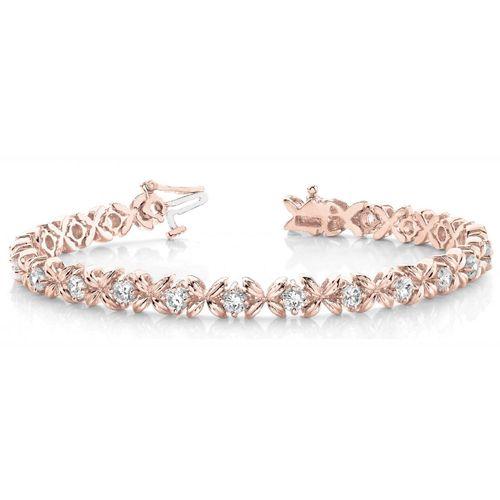 Diamant Armband 2.00 Karat Brillanten, 585 Rosegold