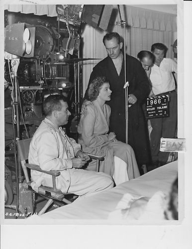 "William Wyler, Myrna Loy and Fredric March on the set of ""The Best Years of Our Lives"""