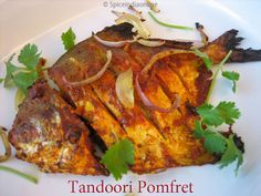 Tandoori Pomfret Recipe, Indian style grilled fish, Silver Pomfret, Seafood recipes